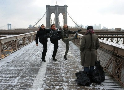 Niche on Brooklyn Bridge (Mikel, Stéphane, Matthew and Bernadette Iglich)