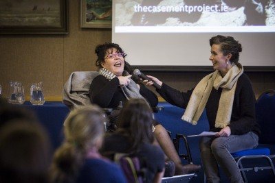 Rosaleen McDonagh in conversation with Lian Bell (photo Ste Murray)
